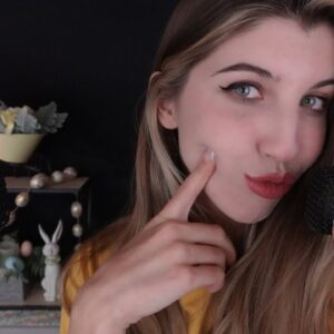 ASMR Ear to Ear Pouty Kisses (w/ Hand Movements & Hair Play)
