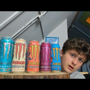 ASMR Monster Energy Tasting