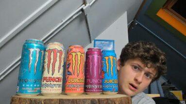 ASMR Monster Energy Tasting