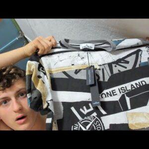 ASMR Clothing Haul + Try On ( Stone  Island & Lacoste )